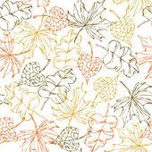 Seamless autumn pattern — Stock Vector