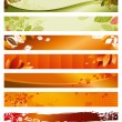 Set autumn banners — Stock Vector