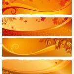 Set autumn banners — Stock Vector #31986287