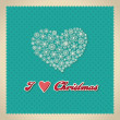 I love christmas — Stock Vector