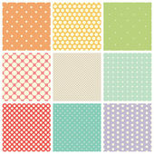 Seamless dots patterns — Stock Vector