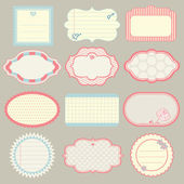 Set of cute frames — Stock Vector