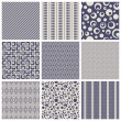 Seamless patterns — Stock Vector