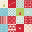 Seamless patchwork christmas pattern — Stock Vector #33764495