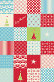 Seamless patchwork christmas pattern — Vector de stock