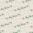 Stock Vector: Handwritten seamless christmas pattern