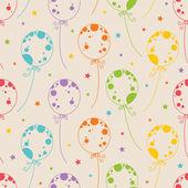 Balonlar ile seamless modeli — Stok Vektör