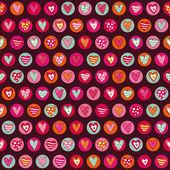 Naadloze hart patroon — Stockvector
