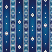 Seamless pattern with stars and ornaments — Stock Vector