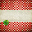Grunge background with clover leaf — Stock Photo