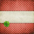 Grunge background with clover leaf — Stock Photo #36402231