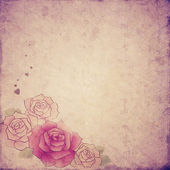 Vintage roses background — Stock Photo