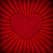 Grunge rays background with heart — Foto Stock