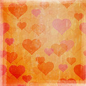 Grunge background with hearts — Foto Stock