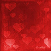 Grunge background with hearts — Stockfoto