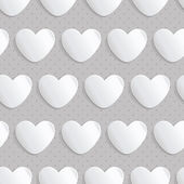 Seamless pattern with paper hearts — ストックベクタ