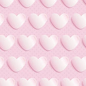 Seamless pattern with paper hearts — Vector de stock