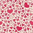 Seamless pattern with hearts — Stock Vector #38379015