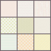 Seamless pastel patterns — Vetor de Stock
