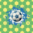 Stock Vector: Grunge soccer background