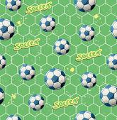 Seamless soccer pattern — Vettoriale Stock