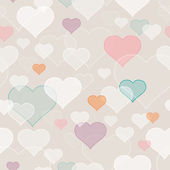 Seamless pattern with hearts — Stok Vektör