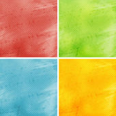 Set of colored grunge backgrounds — Photo