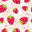 Seamless pattern with strawberries — Stock Vector