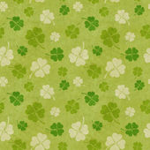 Seamless clover patterns — Stock Photo