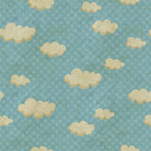 Seamless pattern with clouds — Stock Photo