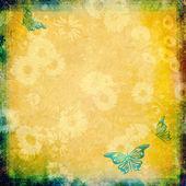 Ročník pozadí s motýly — Stock fotografie