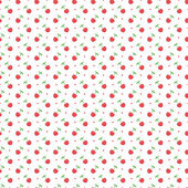 Seamless pattern with dots and cherries — Stock Vector