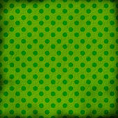 Green grunge background with dots — Stock Photo