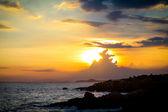 закат на пляже — Стоковое фото