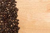 棕色烤的咖啡豆背景 — 图库照片