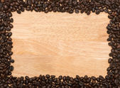 Brown roasted coffee bean, background — Stock Photo