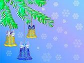Boże Narodzenie tło z dzwonami — Wektor stockowy