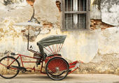 Old Red Trishaw, George Town, Penang — Stock Photo