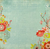 Chinese Background With Lotus Flowers and Blossom. Chinese New Year — Stock Photo