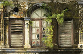 Derelict Window, George Town, Penang Malaysia — Stock Photo