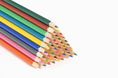 Coloured Pencils On White Background — Stock Photo