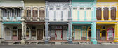 Old And New Heritage Houses, George Town, Penang, Malaysia — Stock Photo