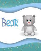 Animal alphabet bear — Stock Vector