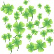 Leaves of clover on a white background — Stock Vector