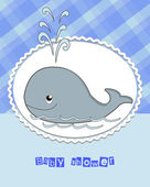 Pictures from the whale for bride-kid — Stock Vector
