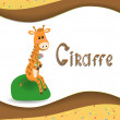 Pictures from the giraffe for bride-kid — Stock Vector