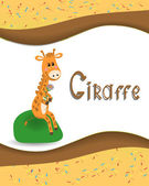 Pictures from the giraffe for bride-kid — Wektor stockowy
