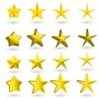 Gold star on the light background — Stock Vector