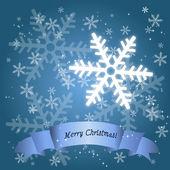 Holiday Season Snow Flake Card — Stock Vector