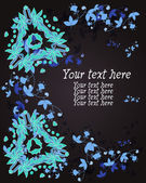 Ornament of flowers and leaves space for your text — Stockvector